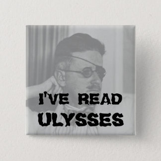 """ik heb"" Knoop Ulysses gelezen Vierkante Button 5,1 Cm"