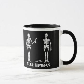 Ik heb Uw Achter | Uw Opperarmbeen - skeletten Mok