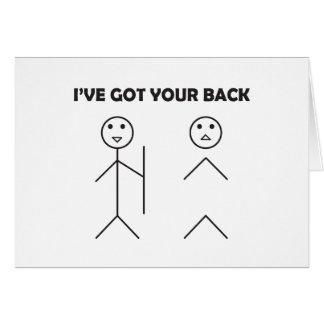 Ik heb uw rug - plak cijfer briefkaarten 0