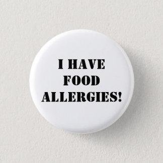 Ik heb voedselallergieën! ronde button 3,2 cm