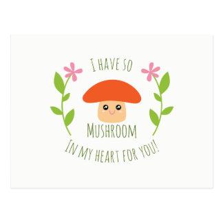 Ik heb zo Paddestoel in Mijn Hart voor u de Humor Briefkaart
