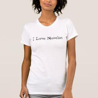 Ik houd Aangepaste van Novelas - T Shirt
