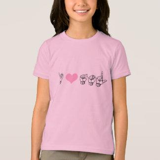 Ik houd (Amerikaanse Gebarentaal) van de Bel T van T Shirt