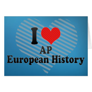 Ik houd AP van Europese Geschiedenis Kaart
