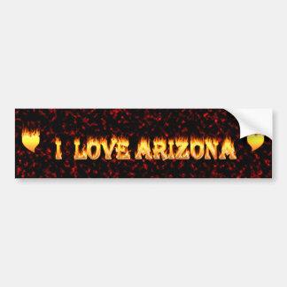 Ik houd Arizona van brand en vlammen Bumpersticker