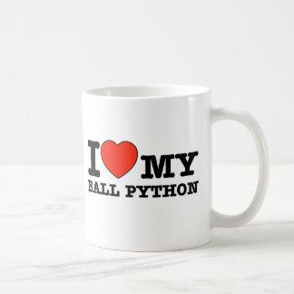 Ik houd bal van python koffiemok
