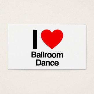 ik houd balzaal van dans visitekaartjes