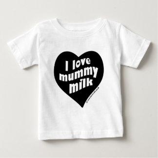 Ik houd brij van melk baby t shirts