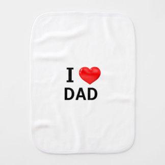 Ik HOUD DAD van de doek van de Oprisping van het Baby Monddoekjes