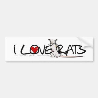Ik HOUD de bumper van sticker van RATTEN