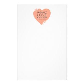 Ik houd Dearly van een Lach - het Citaat van Jane Briefpapier