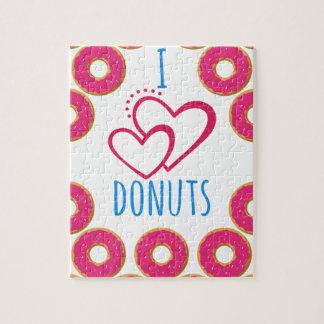 Ik houd donuts van affiche legpuzzel