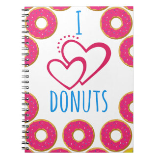 Ik houd donuts van affiche notitieboek