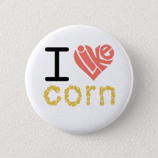 Ik houd graan van knoop ronde button 5,7 cm