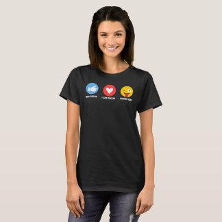 Ik houd Grappige van het Mamma van het Voetbal van T Shirt
