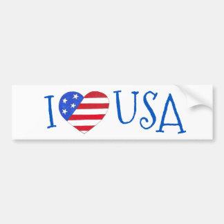 Ik houd Hart van de Vlag van de V.S. Patriottische Bumpersticker