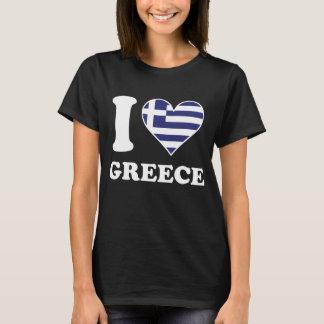 Ik houd Hart van de Vlag van Griekenland van het T Shirt