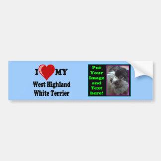 Ik houd (Hart) van Mijn Hond van Terrier van het H Bumpersticker