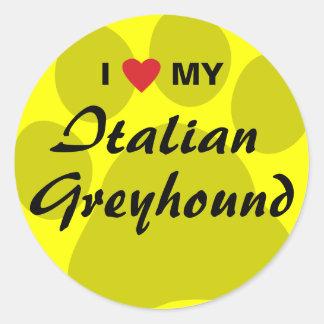 Ik houd (Hart) van Mijn Italiaanse Windhond Sticker