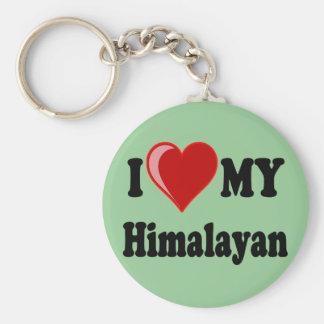 Ik houd (Hart) van Mijn Kat Himalayan Sleutelhanger