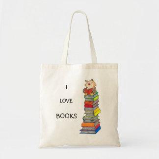 Ik HOUD het bolsa van zak van BOEKEN door Nicole Draagtas