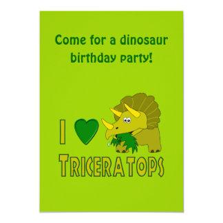 Ik houd (het Hart van I) van Leuke Dinosaurus Kaart