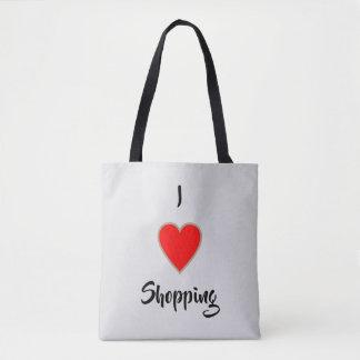 Ik houd het Winkelen van >Shopping Citaten op Draagtas