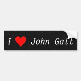 Ik houd John Galt Ayn Rand van de Sticker van de B