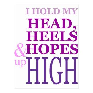 Ik houd mijn Hoofd, hielen & hoop omhoog hoog Briefkaart