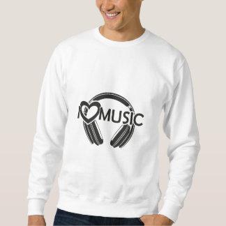 Ik houd muziek van hoofdtelefoons trui