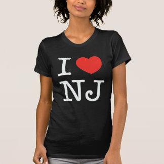 ik houd New Jersey van zwarte T Shirt