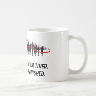 Ik houd niet op wanneer ik vermoeide agentmok ben koffiemok
