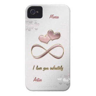 Ik houd oneindig van u iPhone 4 Case-Mate hoesjes