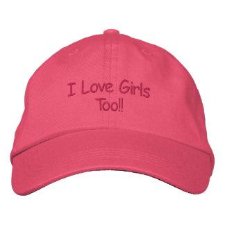 Ik houd ook van Meisjes!! Geborduurde Pet