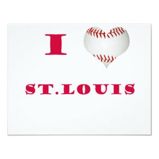 Ik houd Rode Brieven van het Honkbal van St.Louis Kaart