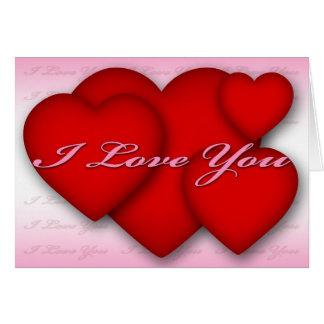 Ik houd Roze van u (harten) Kaart