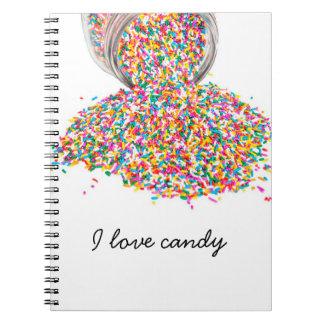 Ik houd snoep van boek notitieboek