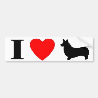 Ik houd Sticker van de Bumper Pembroke van de Wels