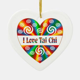 Ik houd Tai van Chi Keramisch Hart Ornament