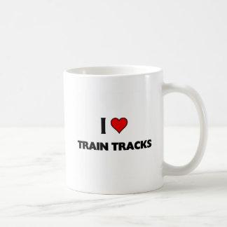 Ik houd trein van sporen koffiemok