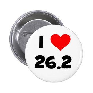 Ik houd van 26.2 ronde button 5,7 cm