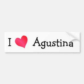 Ik houd van Agustina Bumpersticker
