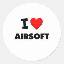 Ik houd van Airsoft Ronde Sticker