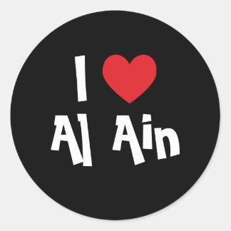 Ik houd van Al Ain Ronde Sticker