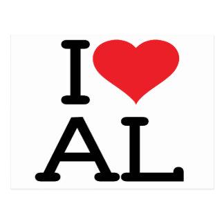 Ik houd van AL (Briefkaart) Briefkaart