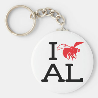 Ik houd van AL - Horzel - Keychain Basic Ronde Button Sleutelhanger