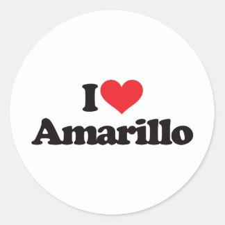 Ik houd van Amarillo Ronde Sticker