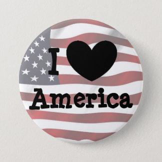 Ik houd van Amerika, de Amerikaanse Knoop van de Ronde Button 7,6 Cm