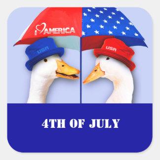Ik houd van Amerika. Grappige Eenden vierde van de Vierkante Sticker