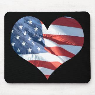 Ik houd van Amerika - Hart Gevormde Amerikaanse Muismat